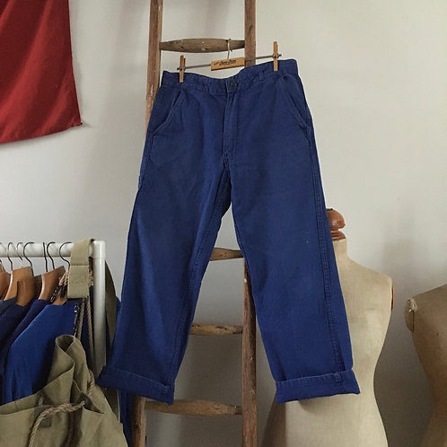 "True Vintage French Bleu de Travail Workwear Trousers W32"""