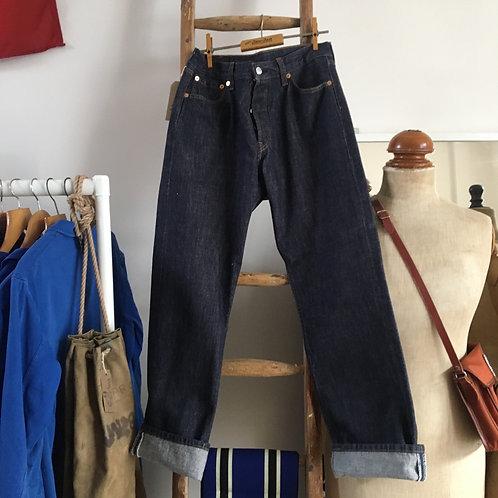 "Vintage Levis 501 Indigo Denim Jeans W30"" L30'"