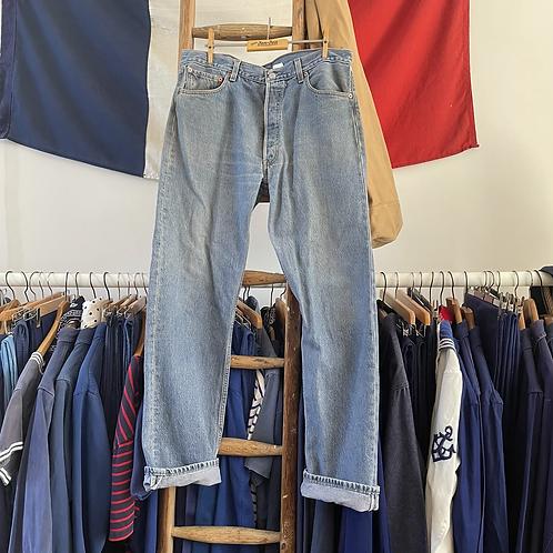 """True Vintage Levis 501 Denim Jeans W35"""" L32"""""""