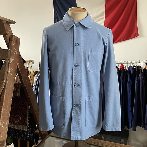 Vintage Style French Vétra Cotton Workwear Jacket L 42