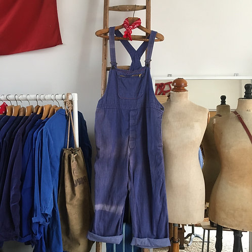 True Vintage Workwear Faded Dungarees L