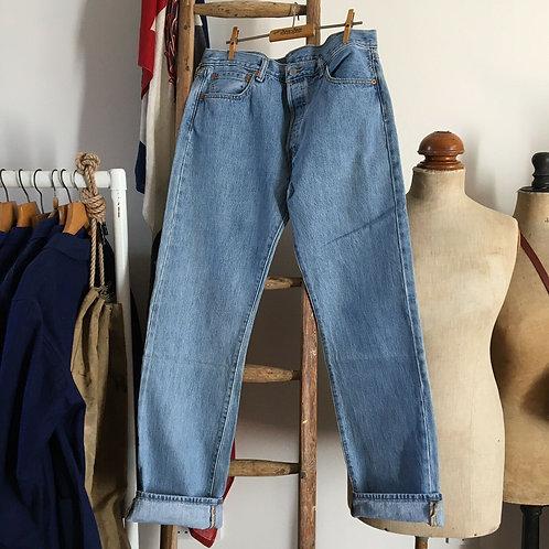 """True Vintage 1980s Levis 501 Denim Jeans W34"""" L34"""""""