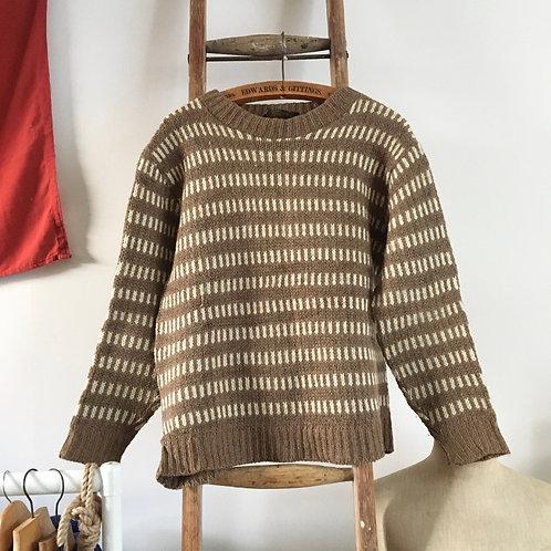 True Vintage Icelandic Nordic Wool Knit Sweater L