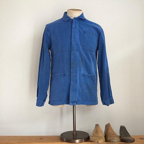 True Vintage French Cobalt Cotton Workwear Jacket S