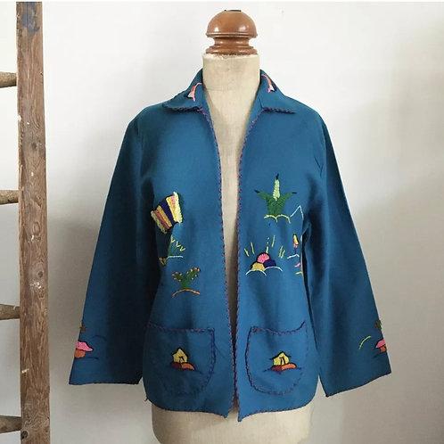 True Vintage 1950s Mexican El Presidente Tourist Jacket S M