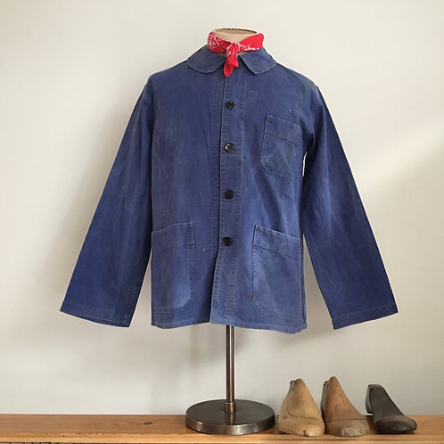True Vintage 1940s/50s French Workwear Jacket M L