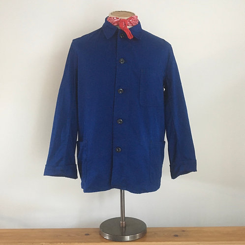 Vintage German Herringbone Cotton Workwear Jacket M