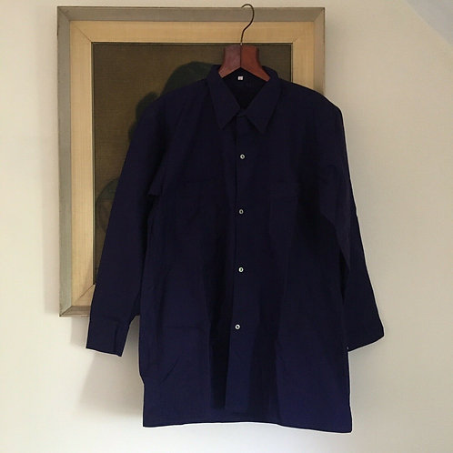 Vintage French Deadstock Cotton Workwear Shirt L