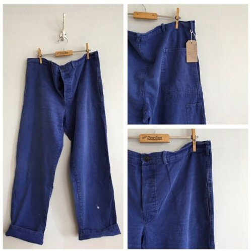 """Vintage French Cotton Workwear Trousers W42"""""""