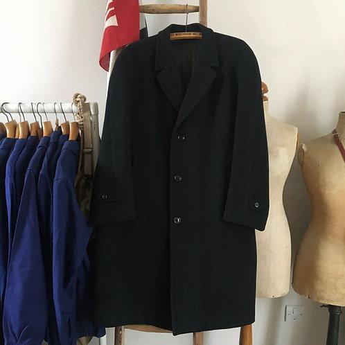 "True Vintage 1950s/60s Wool Coat L 44"""