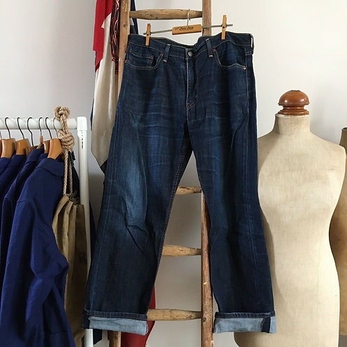 "Vintage Levis 504 Indigo Denim Jeans W36"" L30"""