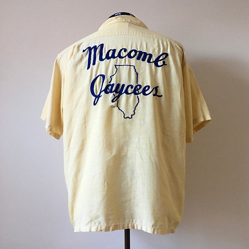 True Vintage USA 1950s Chain Stitched Shirt M L