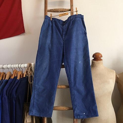 """True Vintage French Bleu de Travail Moleskin Workwear Trousers W36"""""""