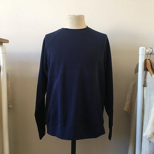 Vintage Style Deep Navy Sweatshirt L