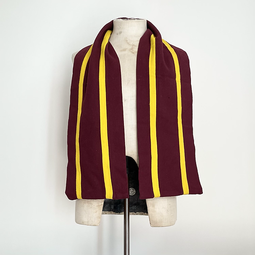 True Vintage 1960s Striped Wool Varsity College Scarf
