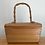 Thumbnail: True Vintage 1950s Wooden Box Bag w/ Bamboo Handle Rare!