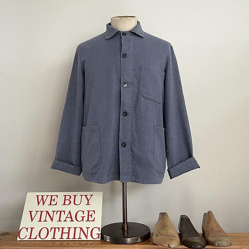 Vintage European Slub Cotton Workwear Jacket M