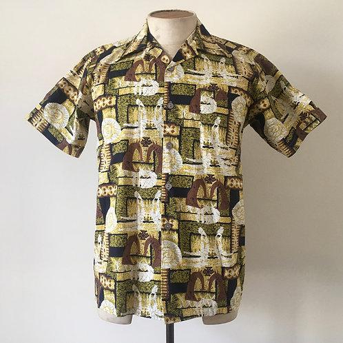 True Vintage 1950s 'Paradise' Fiji Shirt S