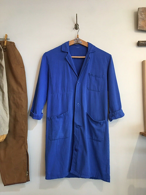 Vintage French Duster Worker Jacket S