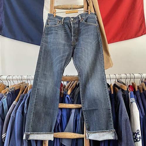 """True Vintage Levis 501 Denim Jeans W34"""" L30"""""""