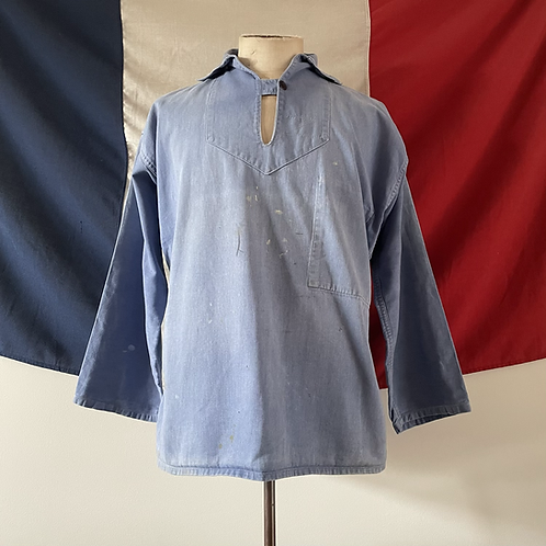 True Vintage French 1940s/50s Faded Workwear Smock M