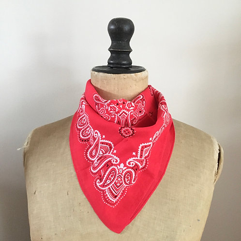 Vintage Soft Cotton Neckerchief Scarf