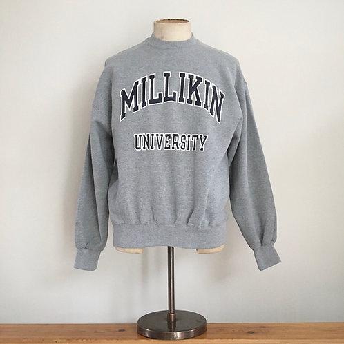 Vintage USA Millikin University Grey Marl Sweatshirt L