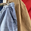 "Thumbnail: True Vintage French 1940s Bleu de Travail Faded Moleskin Workwear Trousers W36"""