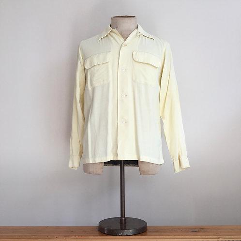 True Vintage 1940s/50s USA 'Ensenada Sportswear' Gabardine Shirt S
