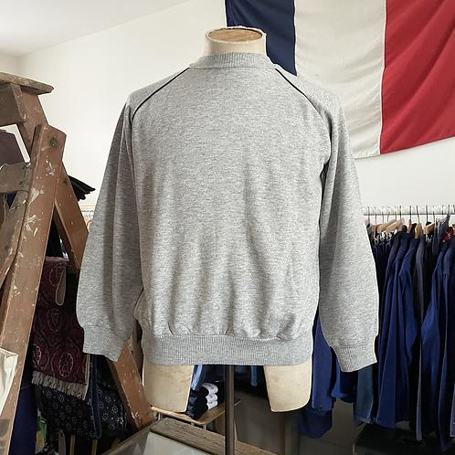True Vintage 1970s Grey Marl Blank Sweatshirt M L