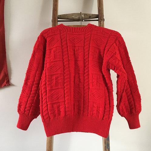 True Vintage Hand Knit Wool Sweater UK8 10 12
