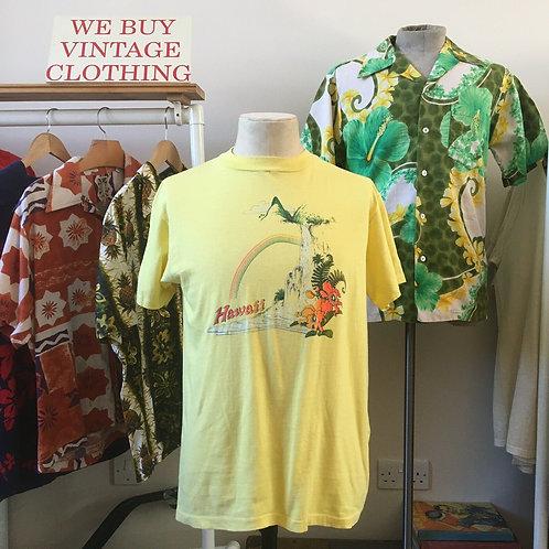 True Vintage 1970s/80s Hawaiian Souvenir Tourist Tee- Shirt M