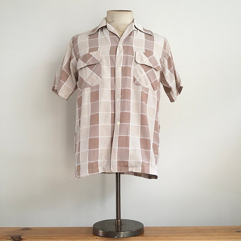 Original Vintage USA 1950s 'Jayson' Check Shirt S M
