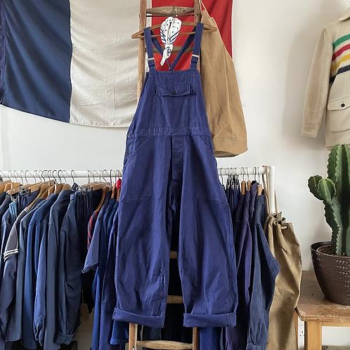 True Vintage 1950s/60s Bleu de Travail Workwear Dungarees M/ M-L
