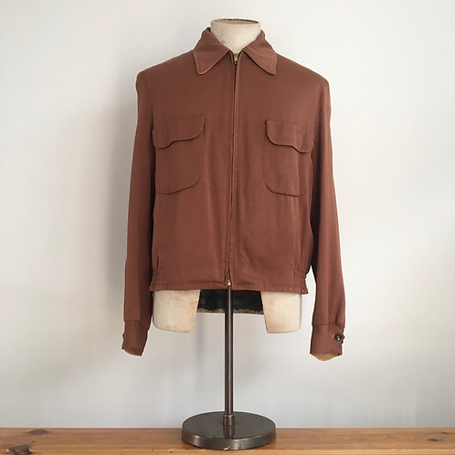 Original 1940s/50s Gabardine Reversible Jacket M