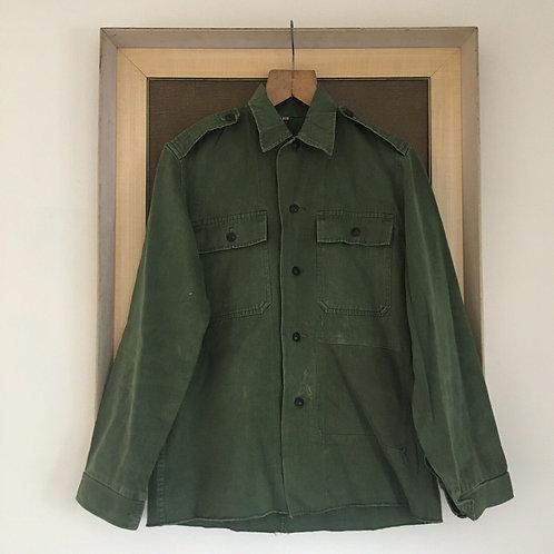 Vintage Military Workwear Cotton Shirt S M