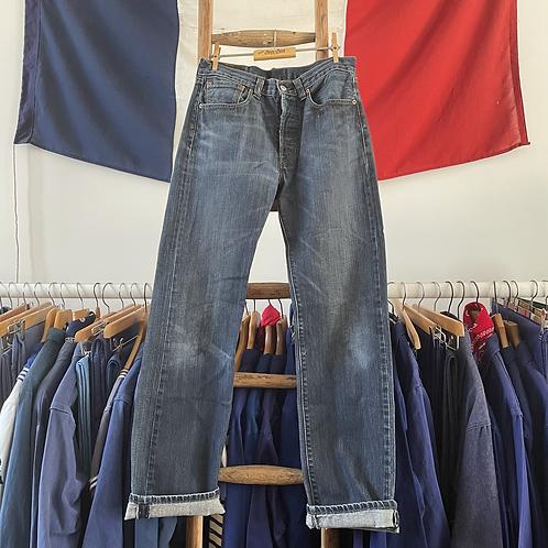 """True Vintage Levis 501 Denim Jeans W30""""/ 31"""" L34"""""""