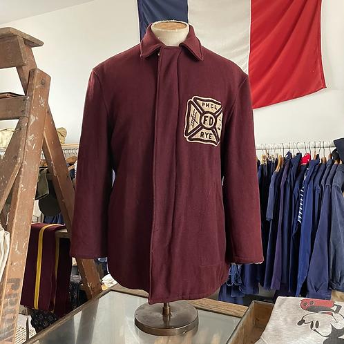 "True Vintage 1940s Rye New York Wool Varsity Jacket L 42"""