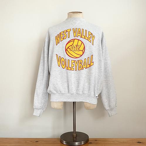 True Vintage 1980s USA West Valley Grey Marl Sweatshirt L