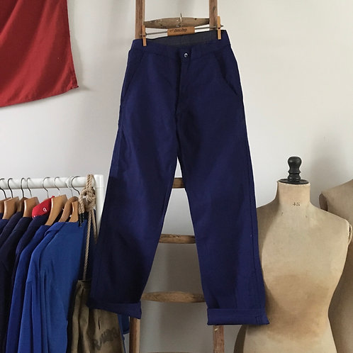 Vintage French Deadstock Workwear Trousers XS W28""