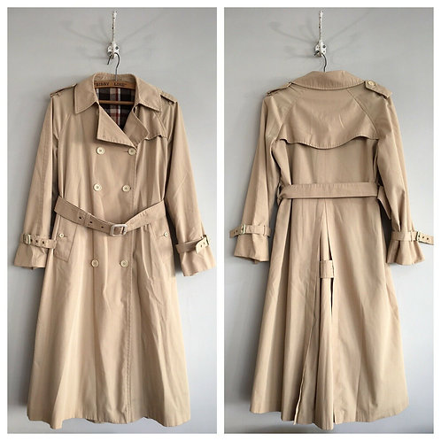 True Vintage 1970s/80s Trench Coat M- L