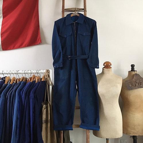 True Vintage 1960s French 'Meraklon' Workwear Coveralls M- L/L