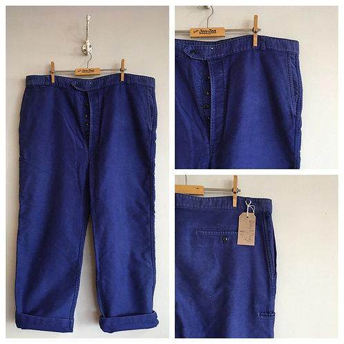 """True Vintage French Moleskin Workwear Trousers W40"""" 42"""""""