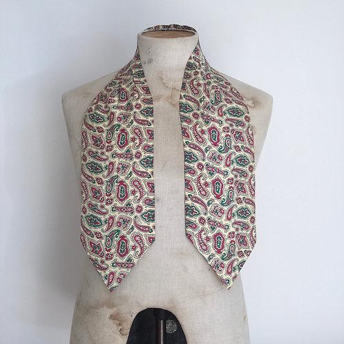 Vintage 1960s  Paisley Cravat Scarf