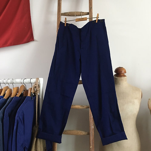 Vintage Chinese 'Friendship Brand' Cotton Workwear Trousers W34""