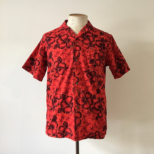 True Vintage Hawaiian Tiki Cotton Shirt S M