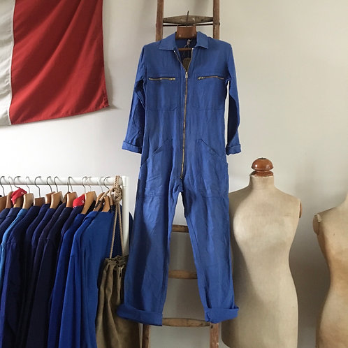 True Vintage French Bleu de Travail Workwear Coveralls XS