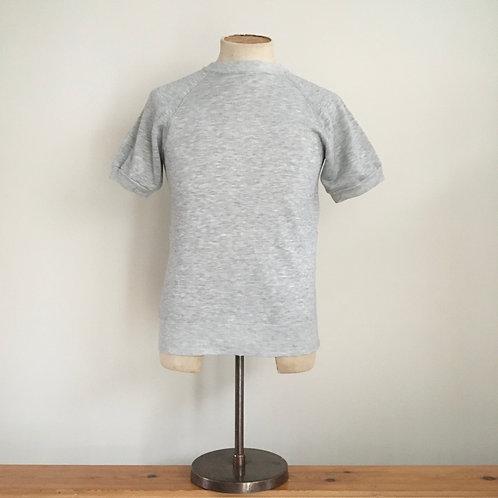 True Vintage 1980s Lee Grey Marl Short- Sleeved Sweatshirt S