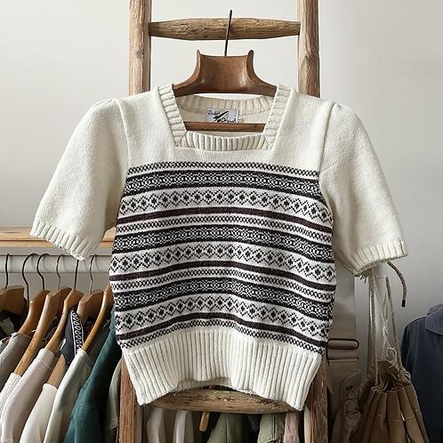 Vintage 1940s Style Rocket Originals Knit Sweater UK8 10