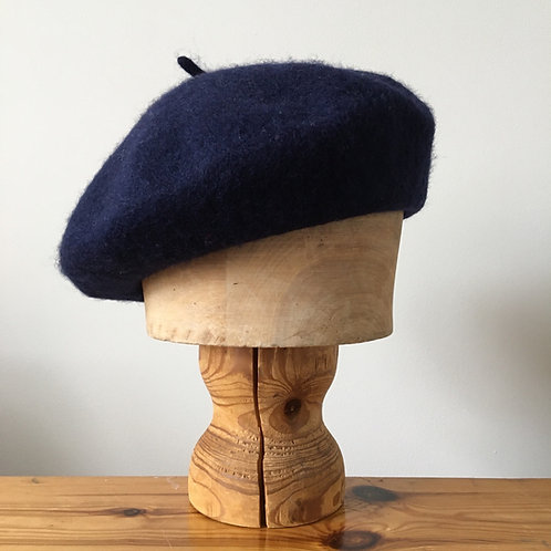 Woolmark 100% Wool Beret Hat/ Navy